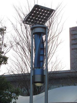 展示場駅前の街灯