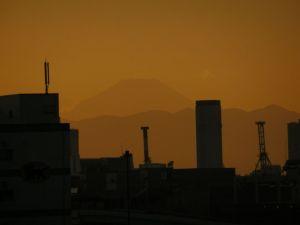 コミケ会場より見る富士山