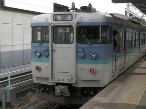 上田駅に到着