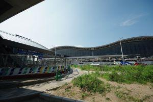 2011年7月 仙台空港駅前