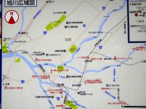 旭川市内地図
