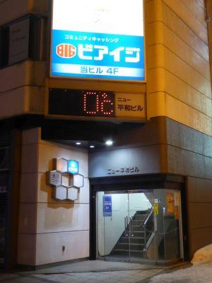 夜9時 旭川の気温